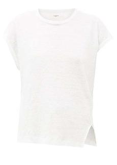 Isabel Marant Étoile Kella cap-sleeved linen T-shirt