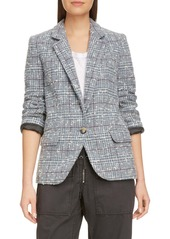 Isabel Marant Étoile Kice Glen Plaid Wool Blend Blazer