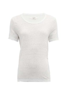 Isabel Marant Étoile Killiann scoop-neck slubbed linen-jersey T-shirt