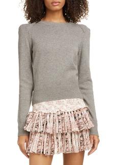 Isabel Marant Étoile Kleely Puff Sleeve Cotton & Wool Sweater