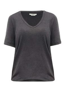 Isabel Marant Étoile Kranger V-neck linen-jersey T-shirt