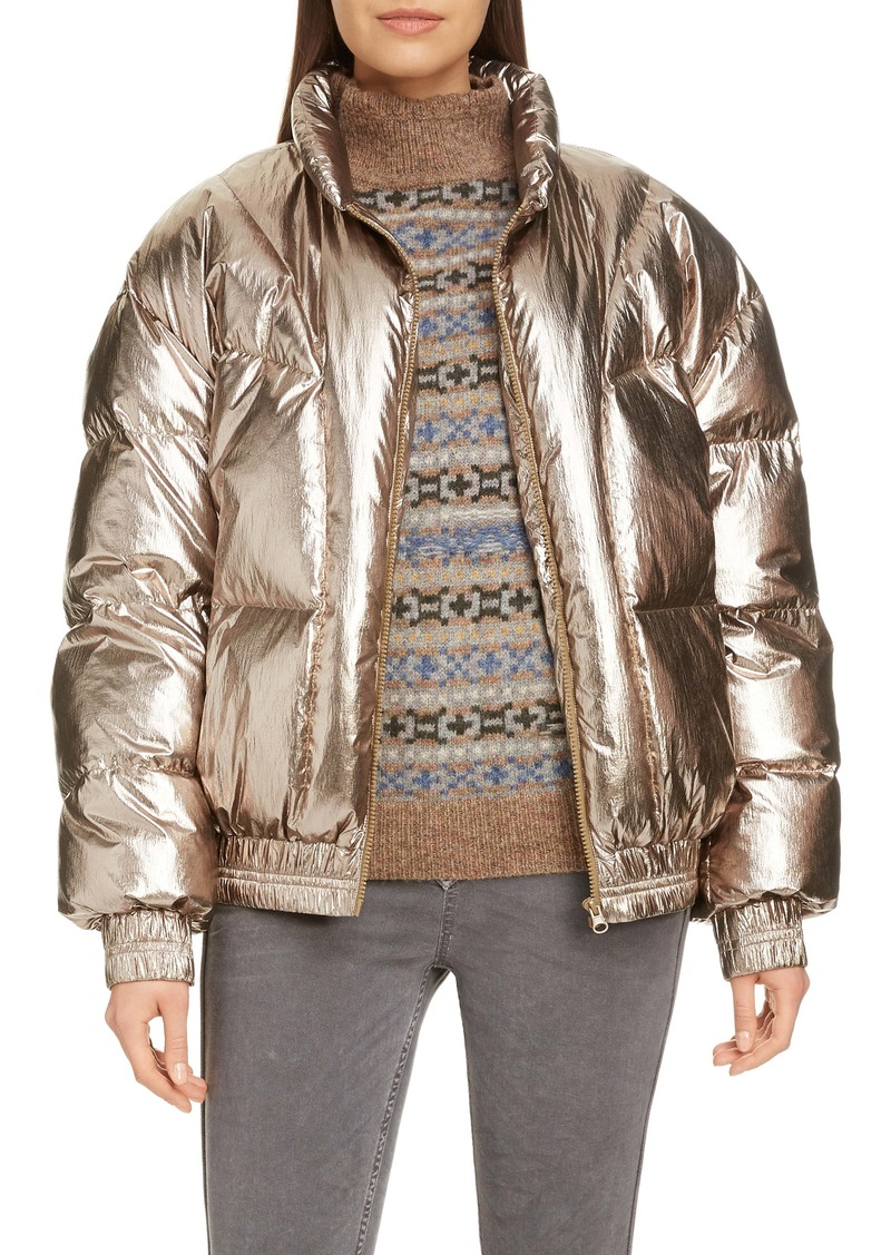 Isabel Marant Étoile Kristen Metallic Puffer Jacket
