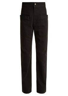Isabel Marant Étoile Lana patch-pocket cotton-canvas trousers