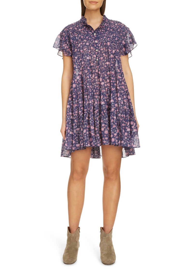 Isabel Marant Étoile Lanikaye Ruffle Pleated Shirtdress