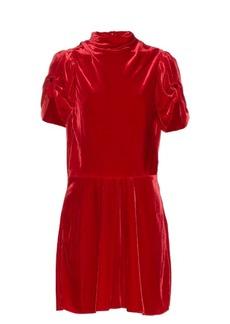 Isabel Marant Étoile Lazy short-sleeved velvet dress