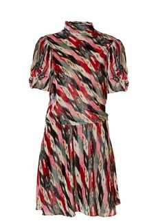 Isabel Marant Étoile Lazy striped abstract-print velvet dress