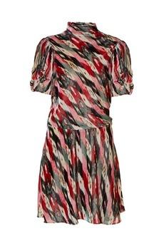 Isabel Marant Étoile Lazy striped abstract-print velvet dress
