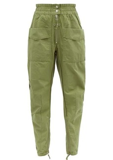 Isabel Marant Étoile Lecia tapered cotton-canvas utility trousers