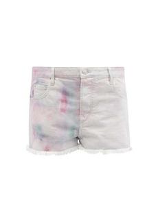Isabel Marant Étoile Lesiabb high-rise tie-dyed denim shorts