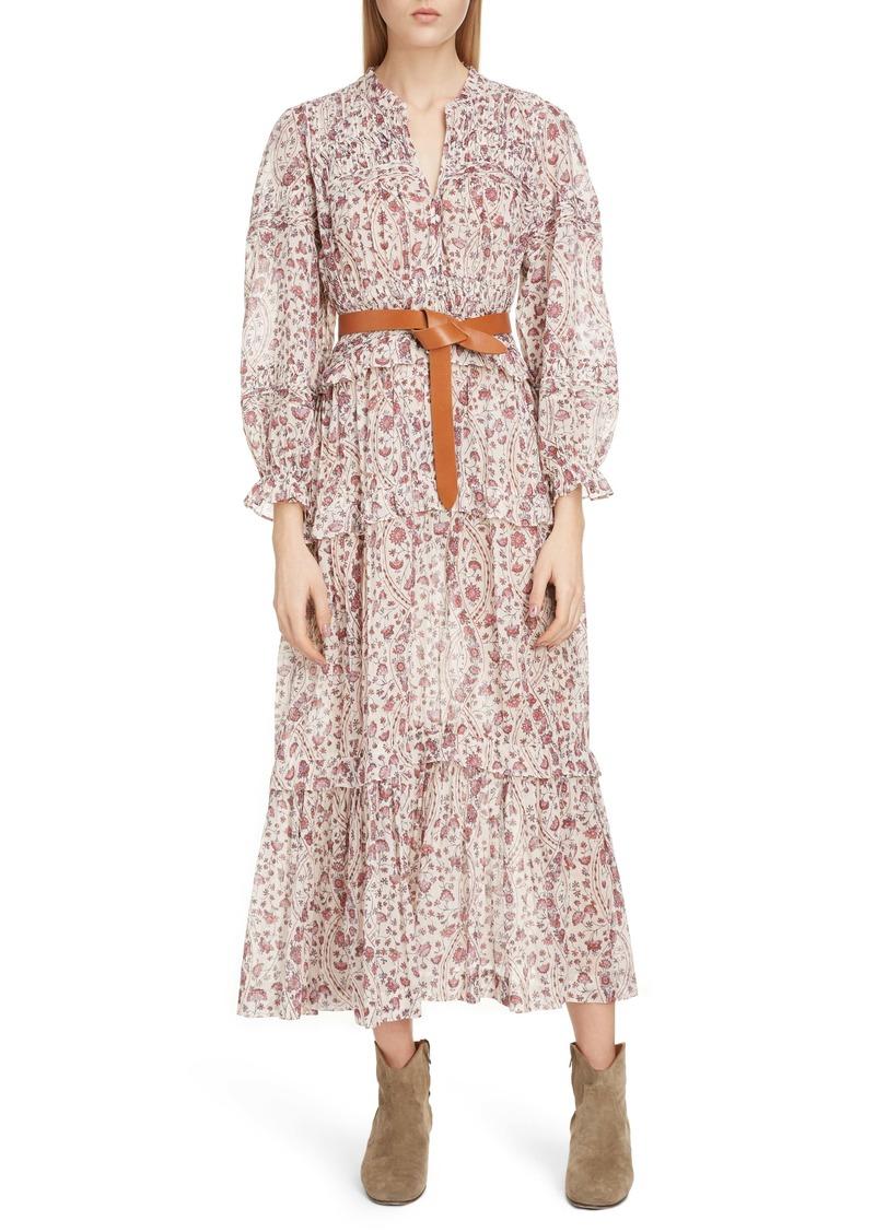 Isabel Marant Étoile Likoya Floral Ruffle Midi Dress