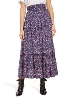 Isabel Marant Étoile Lineka Floral Midi Skirt