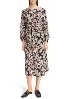 Isabel Marant Étoile Lisa Floral Print Midi Dress