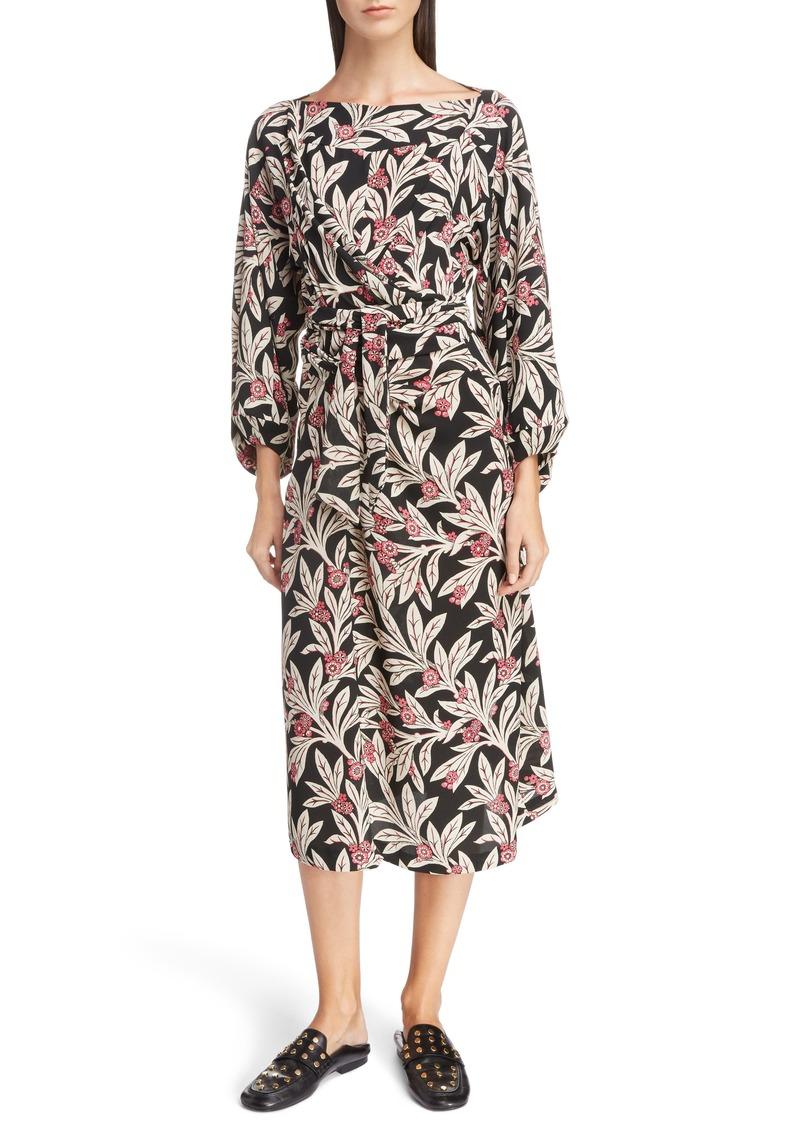 Sale Isabel Marant Isabel Marant étoile Lisa Floral Print Midi Dress