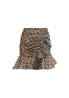 Isabel Marant Étoile Loz patchwork-print cotton mini skirt