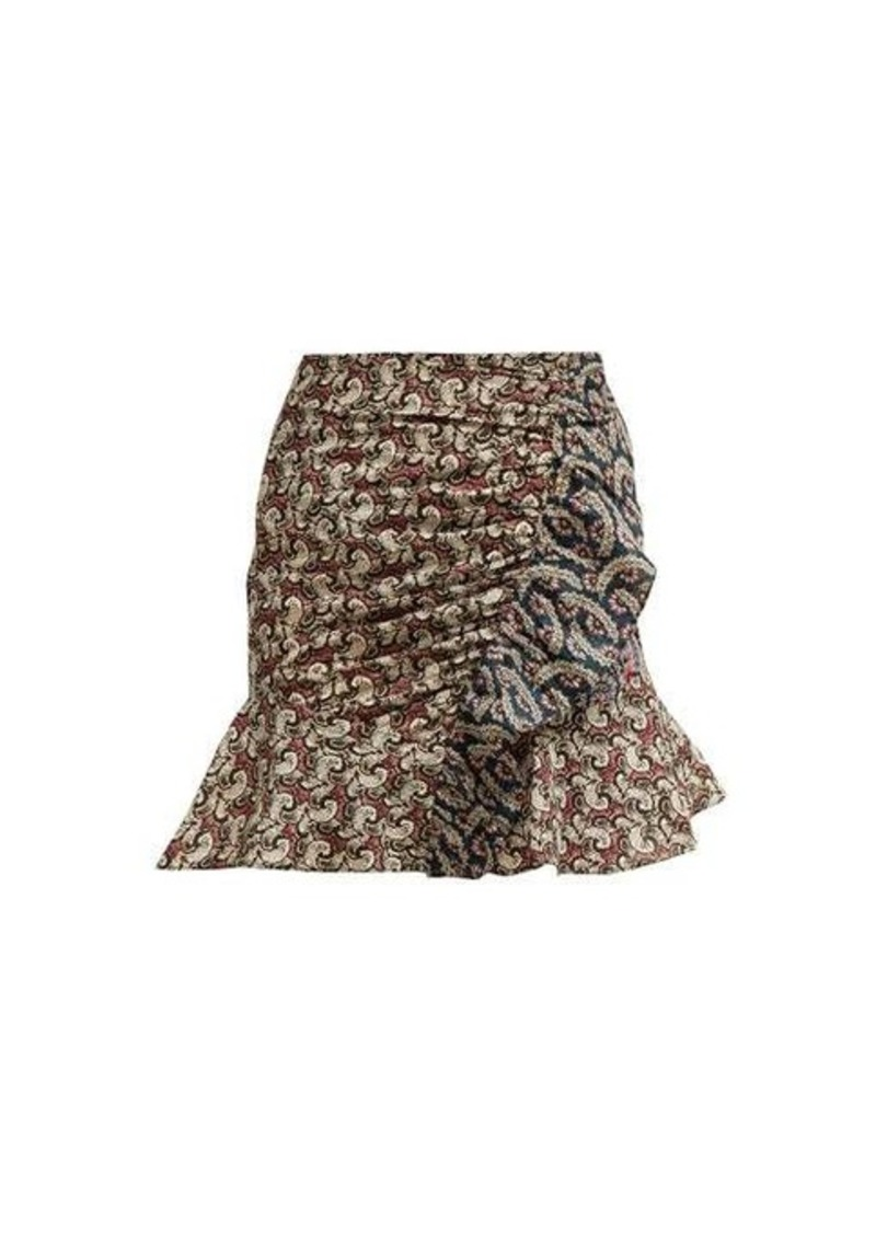 Isabel Marant Étoile Loz patchwork-print cotton mini skirt