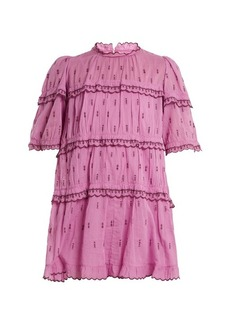 Isabel Marant Étoile Lyin ruffle-trimmed tiered cotton mini dress