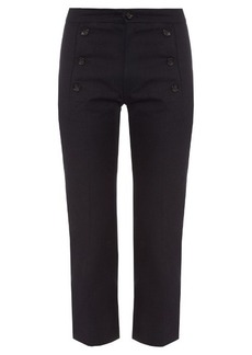Isabel Marant Étoile Macey cropped boot-cut drill trousers