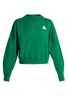 Isabel Marant Étoile Madilon flocked-logo cotton-blend sweatshirt