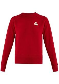 Isabel Marant Étoile Makati flocked-logo cotton-blend sweatshirt