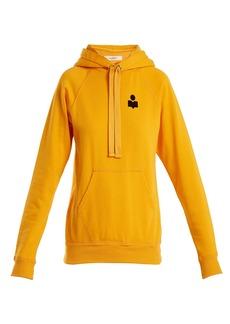 Isabel Marant Étoile Malibu flocked-logo cotton-blend hooded sweatshirt