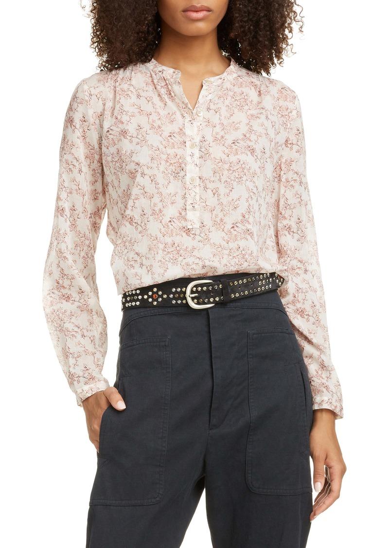 Isabel Marant Étoile Maria Floral Print Cotton Shirt