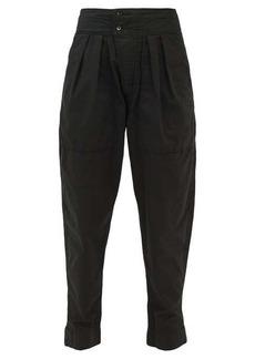 Isabel Marant Étoile Mariz high-rise pleated cotton trousers