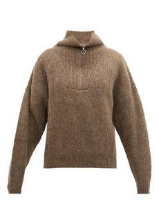 Isabel Marant Étoile Mclean half-zip ribbed sweater