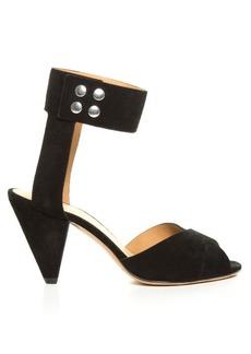 Isabel Marant Étoile Meegan cone-heel suede sandals