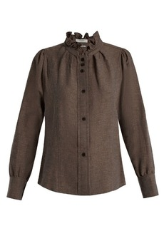 Isabel Marant Étoile Melphine ruffled-collar twill blouse