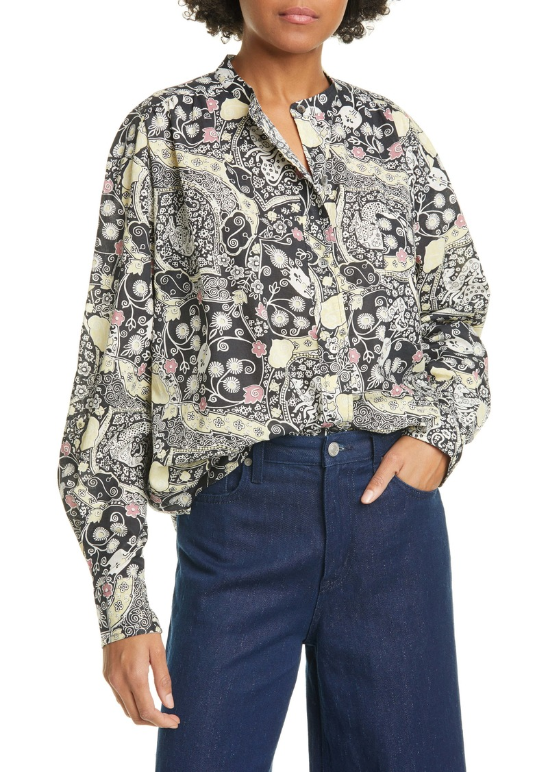 Isabel Marant Étoile Mexica Print Cotton Shirt
