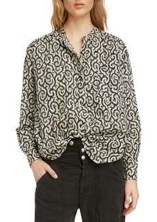 Isabel Marant Étoile Mexika Print Cotton Blouse