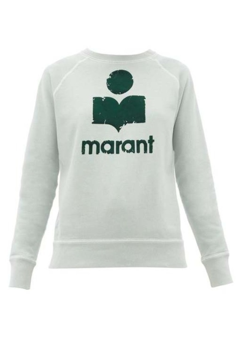 Isabel Marant Étoile Milly flocked-logo cotton-blend sweatshirt