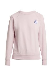 Isabel Marant Étoile Milly flocked-logo cotton-blend sweatshirt