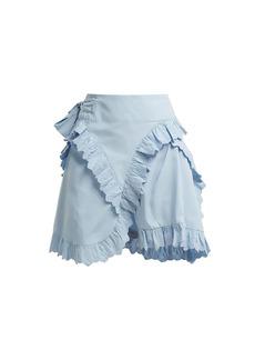 Isabel Marant Étoile Milou broderie-anglaise ruffled wrap skirt