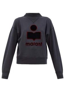 Isabel Marant Étoile Moby embroidered-logo cotton-blend sweatshirt