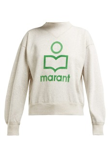 Isabel Marant Étoile Moby flocked-logo cotton-blend sweatshirt