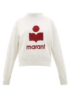 Isabel Marant Étoile Moby flocked-logo cotton-blend sweatshirt