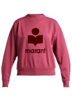 Isabel Marant Étoile Moby logo-print cotton-blend sweatshirt