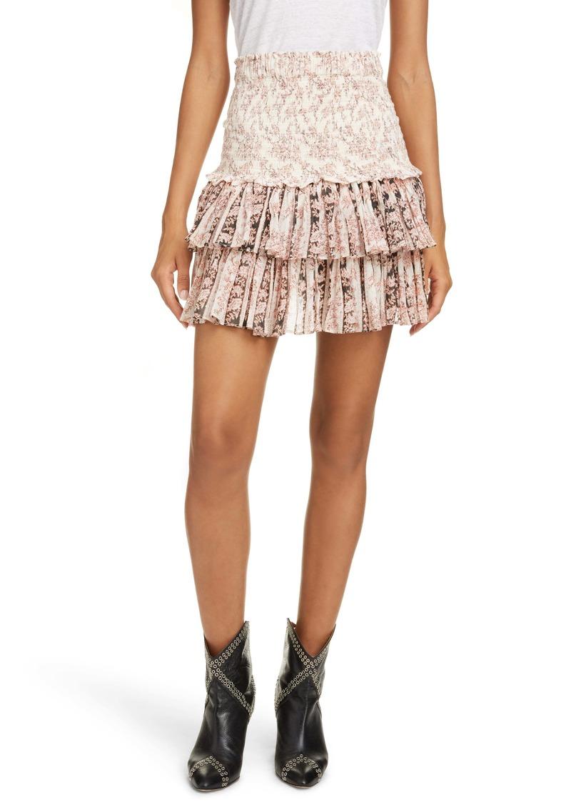 Isabel Marant Étoile Naomi Floral Miniskirt