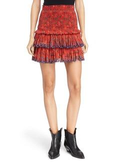 Isabel Marant Étoile Naomi Smocked Waist Miniskirt