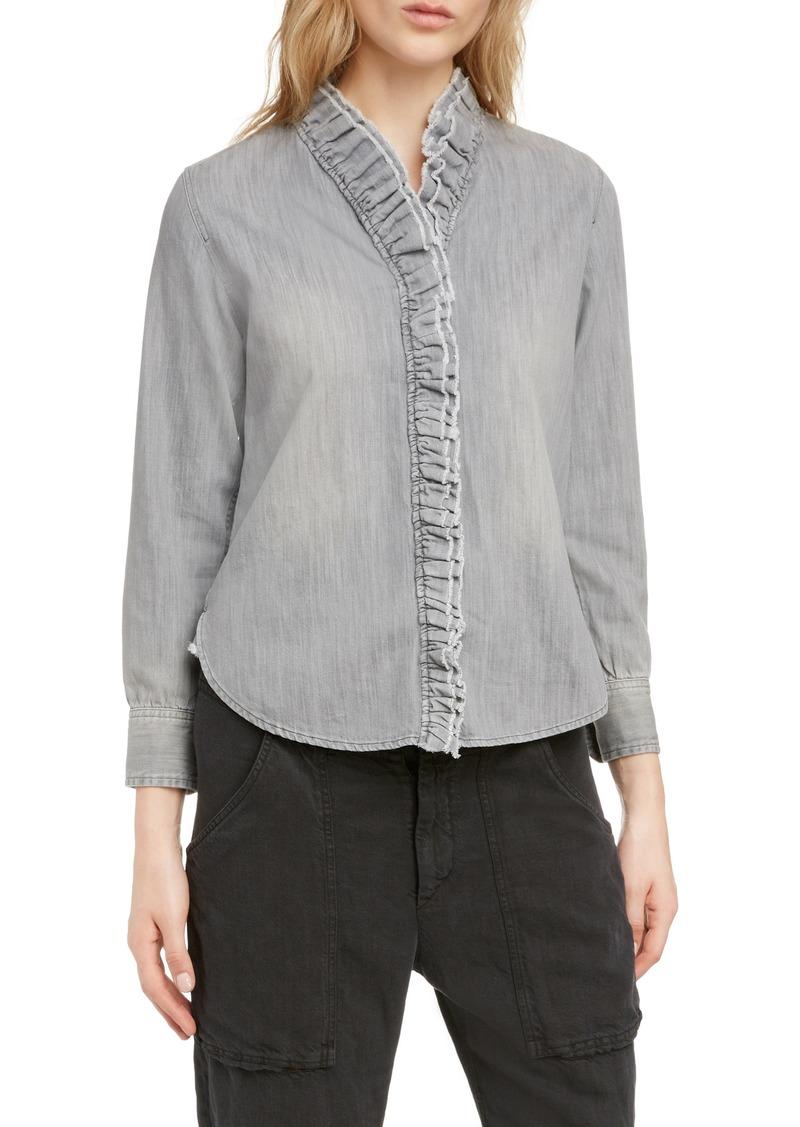 Isabel Marant Étoile Nawendy Ruffle Trim Shirt