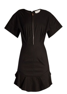 Isabel Marant Étoile Neit zip-front ruffled-hem dress