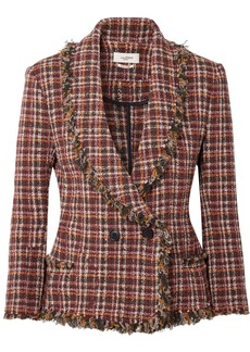 Isabel Marant Nicole Fringed Cotton-blend Tweed Jacket
