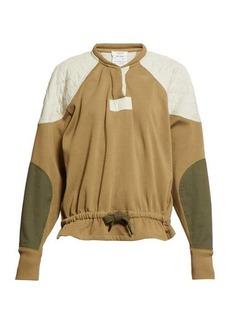 Isabel Marant Étoile Nifen panelled cotton-jersey sweatshirt