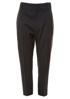 Isabel Marant Étoile Noah checked drop-crotch cropped trousers