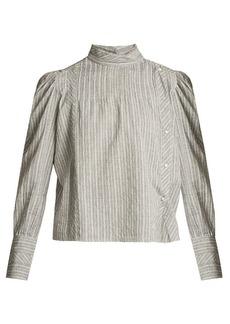 Isabel Marant Étoile Oak high-neck striped cotton shirt
