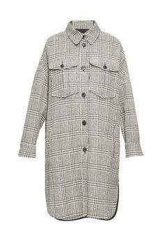 Isabel Marant Étoile Obira houndstooth shirt coat