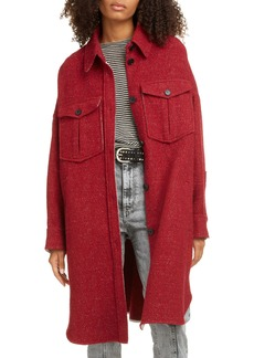 Isabel Marant Étoile Obira Oversize Wool Blend Shirt Coat