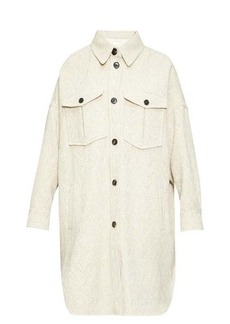Isabel Marant Étoile Obira patch-pocket herringbone coat