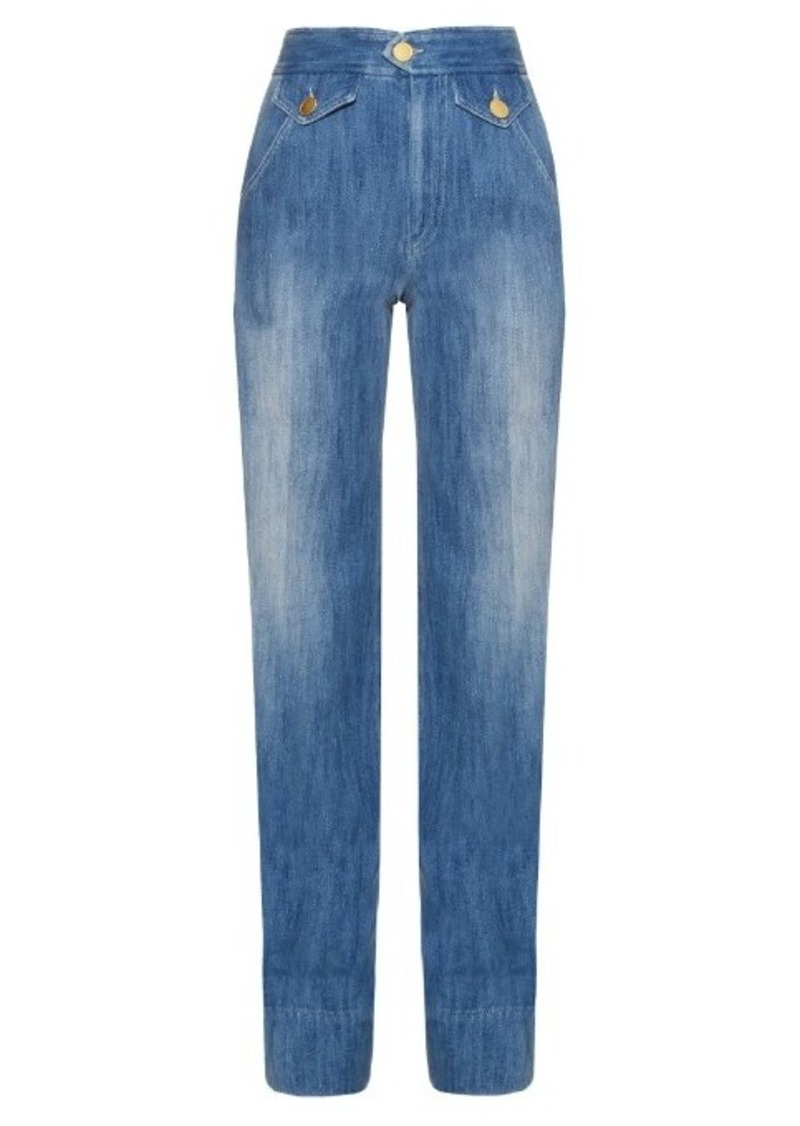 Isabel Marant Étoile Odessa high-rise flared jeans